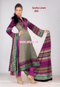 Al-Hamra Textiles Sooha Linen 2012 For Winter 001