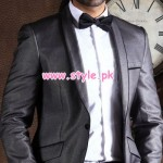 Charcoal Latest Winter Formal Wear Collection 2012 004