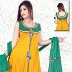 Uzma Creation Yellow Shaded Collection 2012-2013 For Women 001