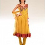 Uzma Creation Yellow Shaded Collection 2012-2013 For Women 003