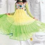 Uzma Creation Yellow Shaded Collection 2012-2013 For Women 005