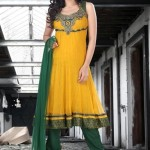 Uzma Creation Yellow Shaded Collection 2012-2013 For Women 007