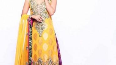 Fashion Of Mehndi Dresses 2013 For Girls 010