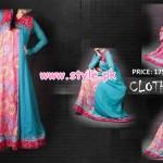 Latest Clothes Line Winter Dresses 2012 For Women 008