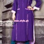 Latest Clothes Line Winter Dresses 2012 For Women 010