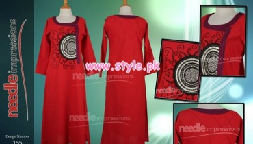 Latest Needle Impressions Winter Party Dresses 2012 013