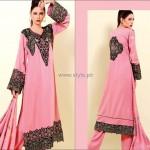 Shaista Winter Fabrics 2012-13 Collection New Designs 006
