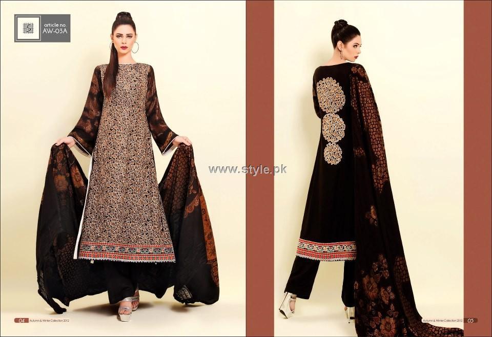 Shaista Winter Fabrics 2012-13 Collection New Designs