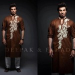 Deepak And Fahad Winter Kurta Collection 2013 For Men 005