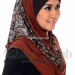 Fashion Of Head Scarves and Hijab Designs 2013 For Girls 005