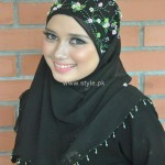 Fashion Of Head Scarves and Hijab Designs 2013 For Girls 007