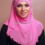 Fashion Of Head Scarves and Hijab Designs 2013 For Girls 009
