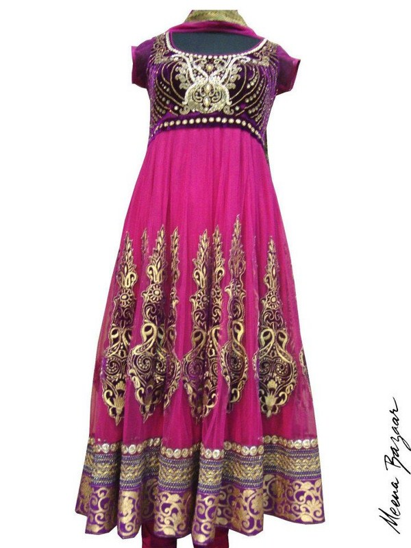 Meena Bazaar Anarkali Winter Collection 2013 For Women 001