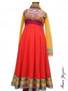 Meena Bazaar Anarkali Winter Collection 2013 For Women 009