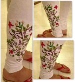 Pareesa Embroidered Tights Winter Collection 2013 For Women 005