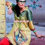 Resham Ghar Winter Digital Printed Tunics 2013 015