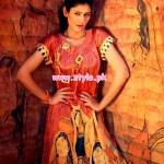 Resham Ghar Winter Digital Printed Tunics 2013 019