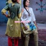 Resham Ghar Winter Digital Printed Tunics 2013 020