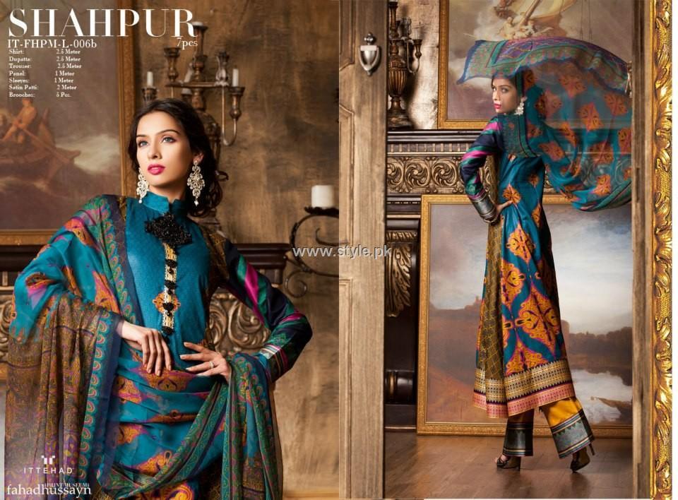 Fahad Hussayn Lawn 2013 by Ittehad Textiles 001 pakistani dresses