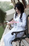 Minahil & Eleaza Latest Party Wear Clothes 2013 002