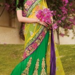 Natasha Couture Lehenga Sarees Winter Collection 2013 For Women 004