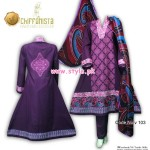 VS Textile Mills Embroidered Dresses 2013 001