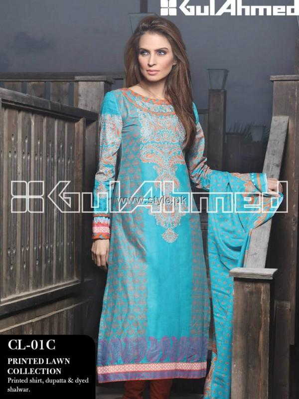 Gul Ahmed Printed Lawn Range 2013 for Women