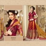 Zobi Fabrics Lehenga Sarees Collection 2013 For Women 0010