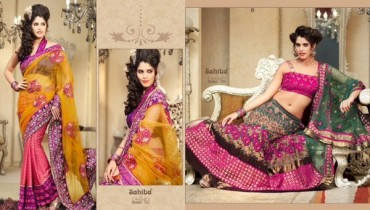 Zobi Fabrics Lehenga Sarees Collection 2013 For Women 0011