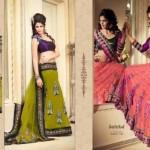 Zobi Fabrics Lehenga Sarees Collection 2013 For Women 0015