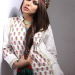 Khaadi White Dresses Collection 2013 for Women 006