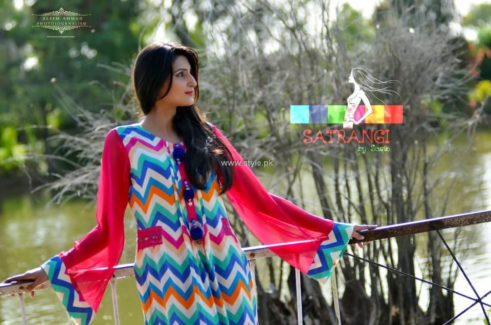 Satrangi by Saqib Latest Summer Collection 2013