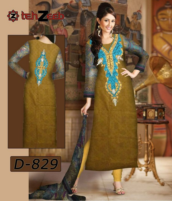 Shahzeb Designer Lawn Collection 2013 For Women 007
