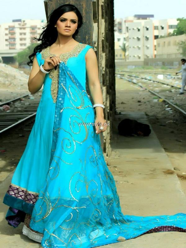 Wajahat Mansoor Semi-formal Wear Dresses 2013