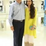 Mansoor and Layla Chatoor at Launch Of Sania Maskatiya Dolmen Mall Store