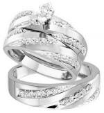 White Gold Diamond Rings For Men and Women 008 300x325