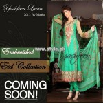 Yashfeen Lawn Eid Collection 2013 For Girls 001