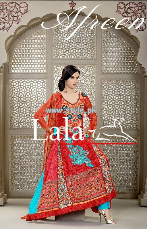 Afreen Eid Collection 2013 by Lala Textiles For Women 004