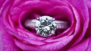 Beautiful Diamond Engagement Ring In Flower