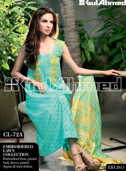 Gul Ahmed Embroidered Lawn Eid Collection 2013 For Women 007