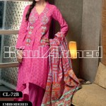 Gul Ahmed Embroidered Lawn Eid Collection 2013 For Women 008