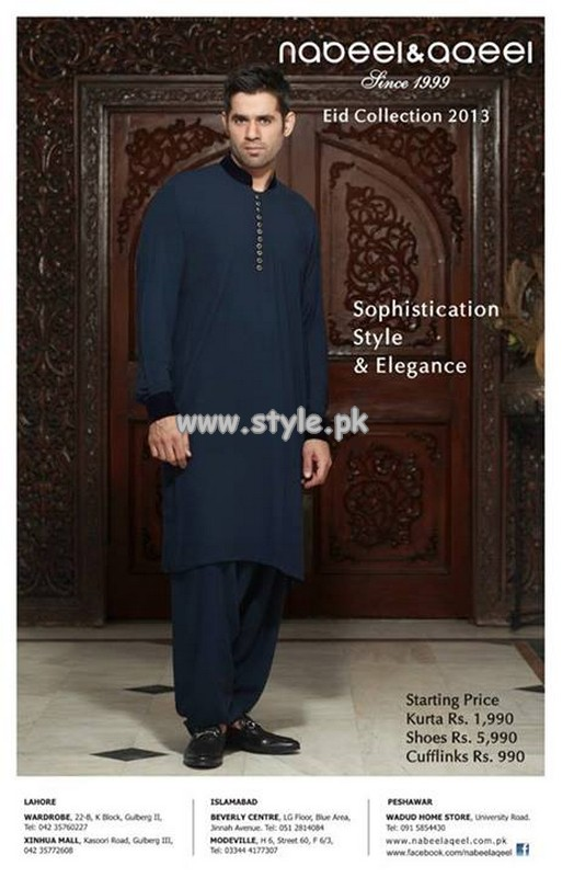 Nabeel And Aqeel Kurta Shalwar Collection 2013 For Eid 002