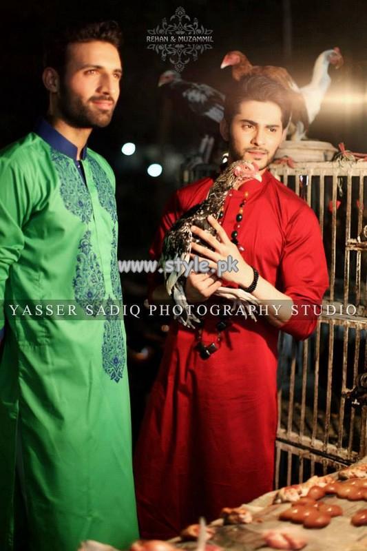 Rehan and Muzammil Kurta Shalwar 2013 For Men 006