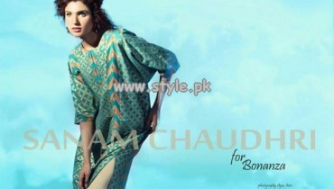 Sanam Chaudhri Eid Collection 2013 For Bonanza Garments 008