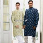 Yellow Eid Kurta Shalwar Collection 2013 For Men 001