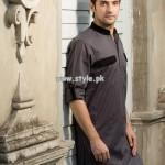 Yellow Eid Kurta Shalwar Collection 2013 For Men 003