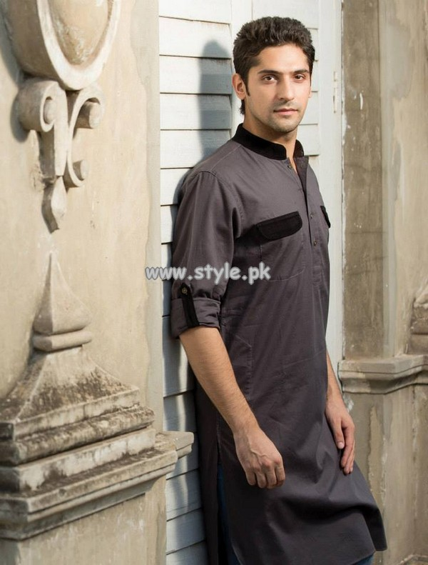 Yellow Eid Kurta Shalwar Collection 2013 For Men 003