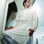 Yellow Eid Kurta Shalwar Designs 2013 For Men 007