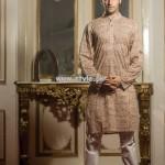 Yellow Eid Kurta Shalwar Designs 2013 For Men 008