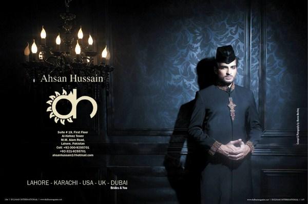 Ahsan Hussain Sherwani Collection 2013 For Men 001